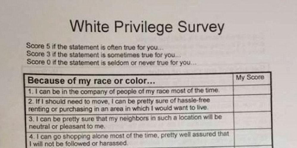 White privilege essay