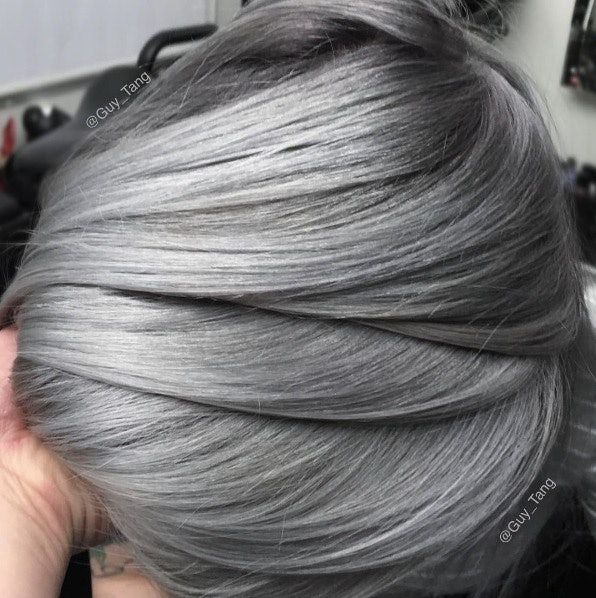 silver hair on guys