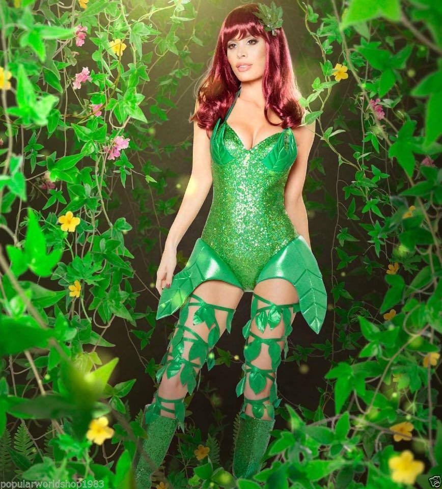 Sexy Poison Ivy Halloween Costume