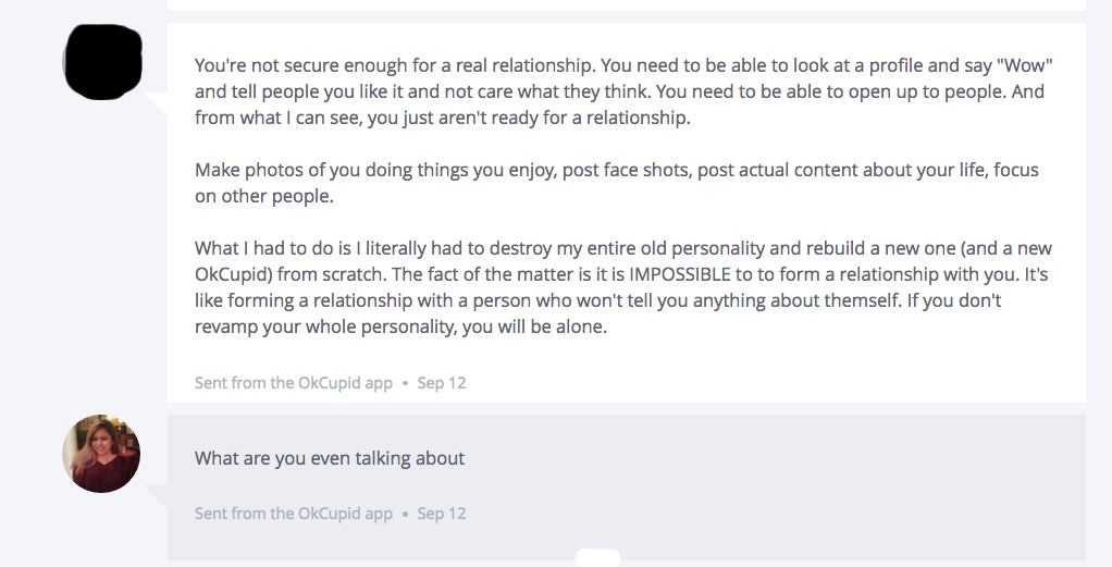 online dating insults
