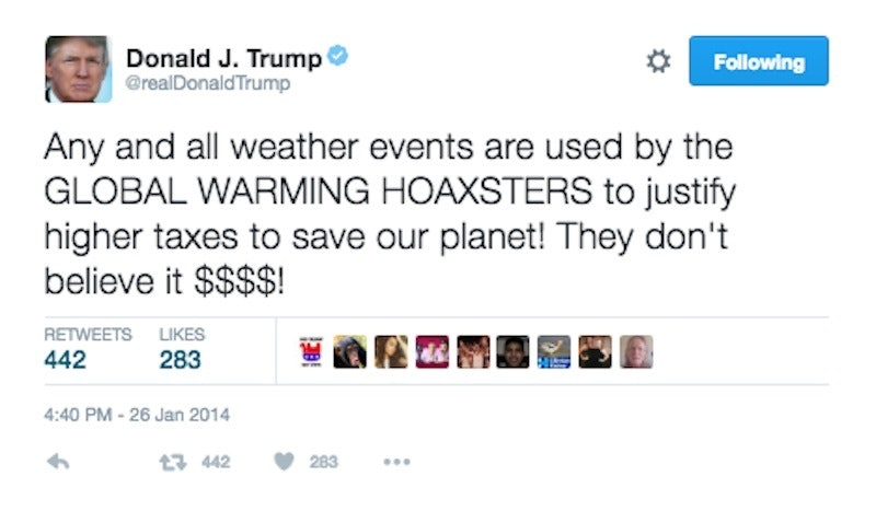Image result for trump climate change