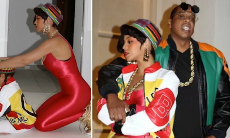 Beyonce, Blue Ivy And Jay Z Were Salt-N-Pepa For Halloween