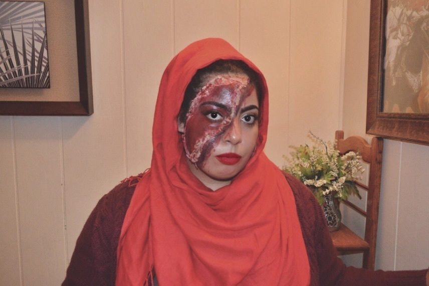 Make Up Halloween Simple Hijab.Harley Quinn Costume Made With A Hijab Went Viral For Creativity