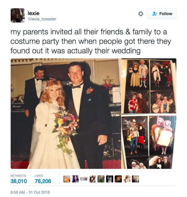 Couples surprise halloween wedding goes viral 24 years later junglespirit Image collections
