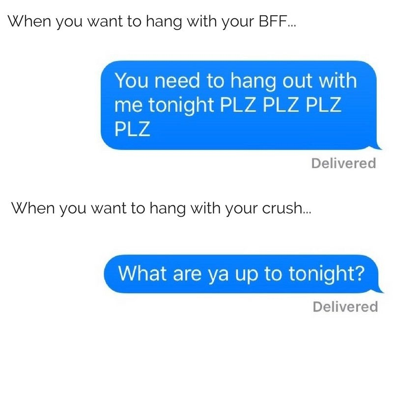how do you text your crush