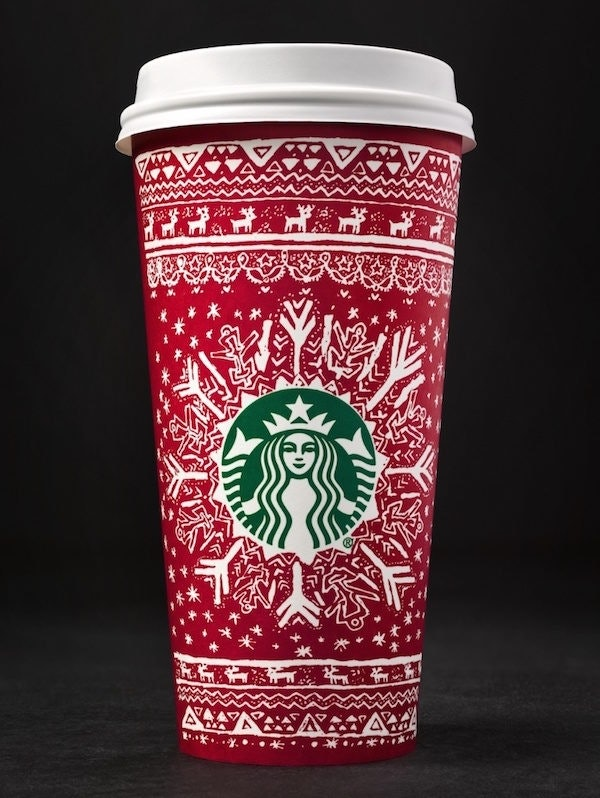 starbucks reveals 13 new red holiday cups