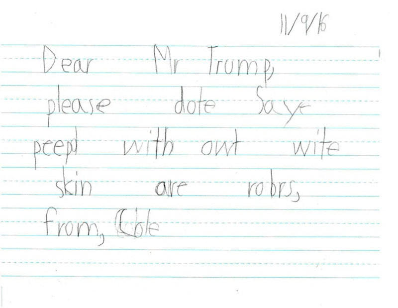 first graders letters to donald trump are scarily wise