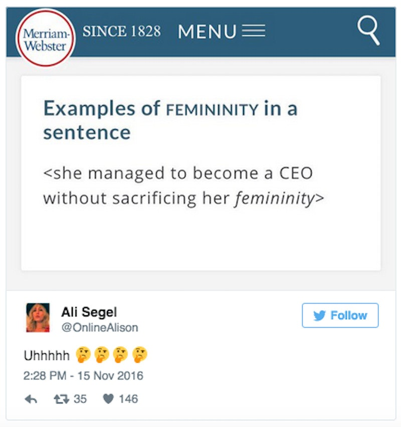 Merriam-Webster Changes Sexist Definition of 'Femininity'