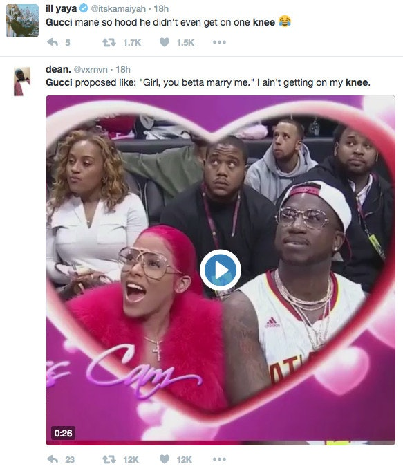 Gucci Mane\u0027s Proposal Sparks Hilarious Twitter Debate