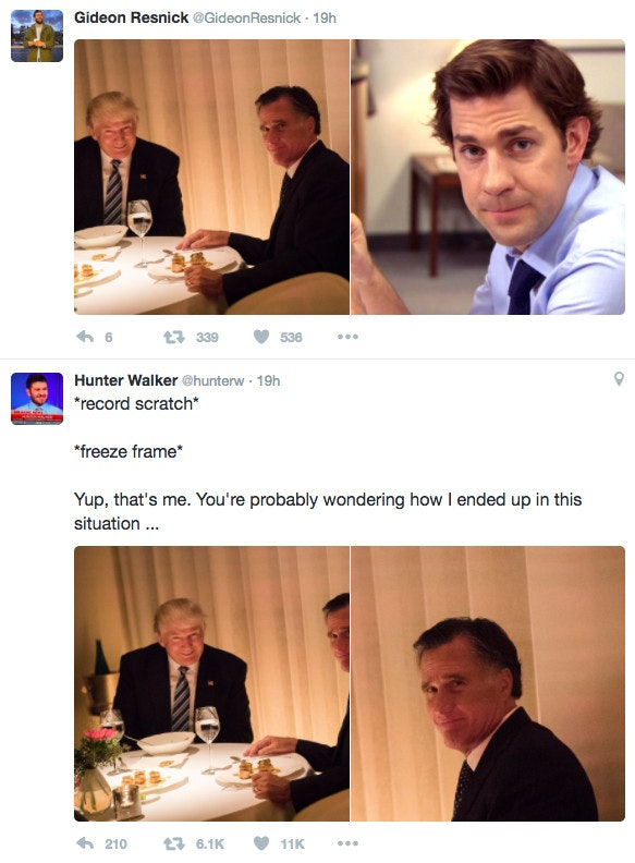 Mitt Romney Trump Memes mitt romney's doing the right thing by playing to trump