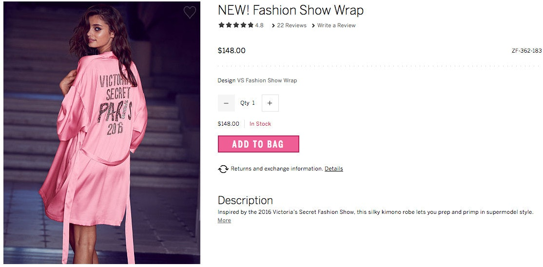 Victoria\'s Secret Fashion Show Robe Is The Perfect Purchase