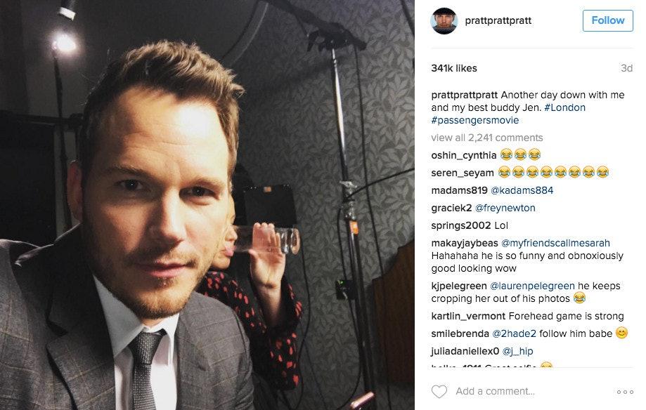Chris Pratt Crops Out Jennifer Lawrence On His Instagram