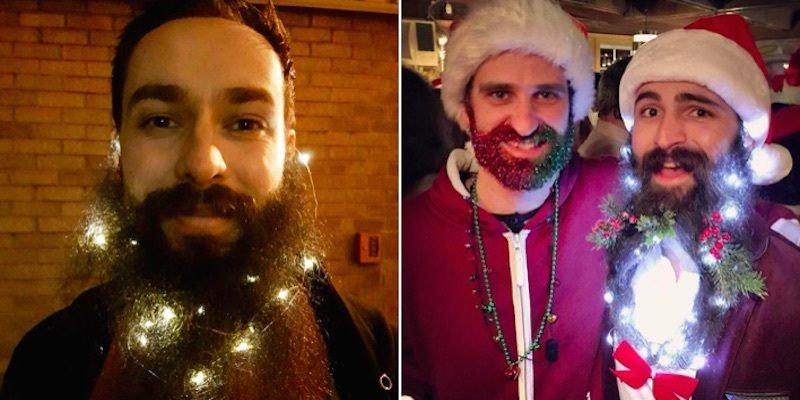 Christmas Light Beard Trend Dominates Holiday Instagrams