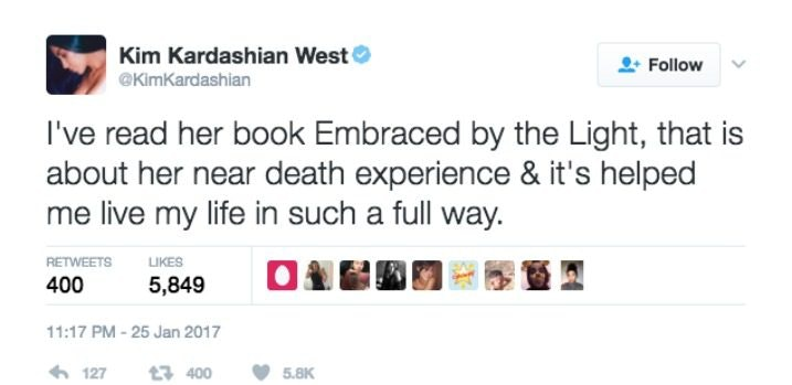 Embraced By The Light Book Cool This Book Helped Kim Kardashian's Life After Paris Robbery
