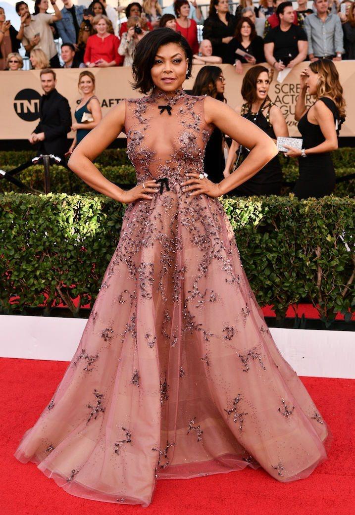 Taraji P. Henson Slays SAG Awards In A Revealing Dress