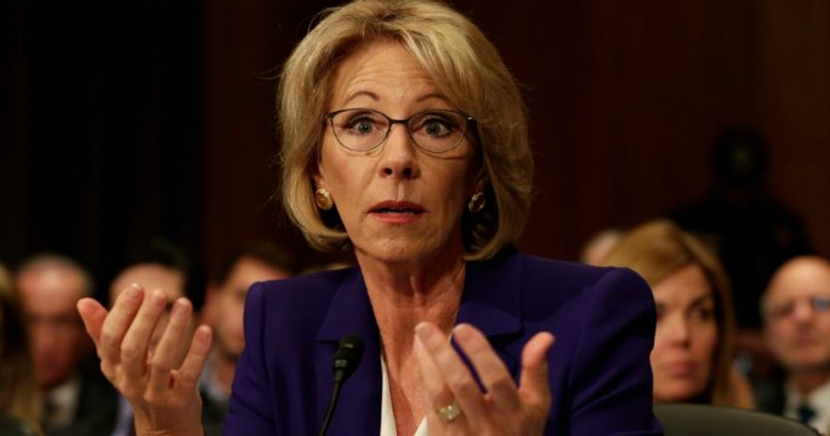 Betsy DeVos' Confirmation May Be Due To Family's Donations