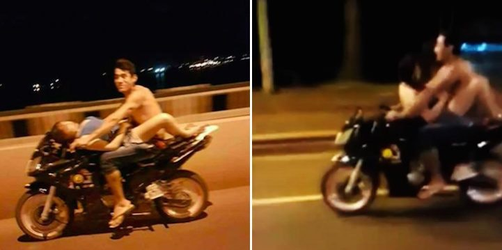 Teen having sex in the motobike