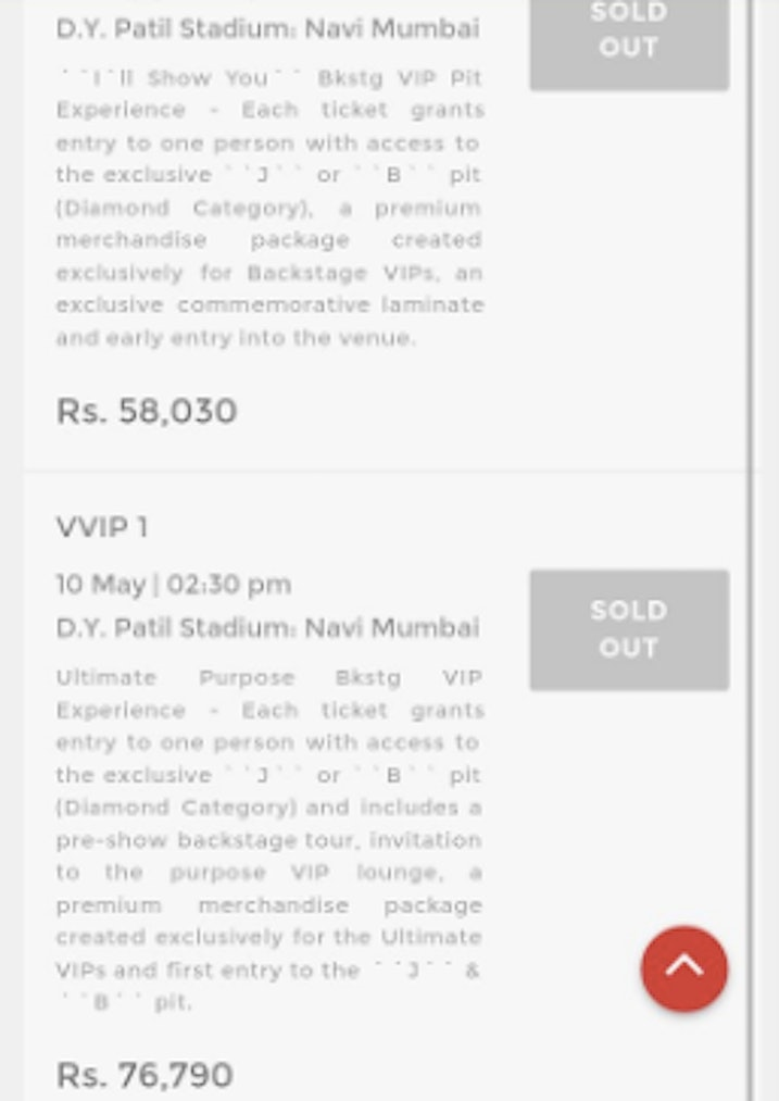 The price of a single justin bieber ticket in india is insane m4hsunfo