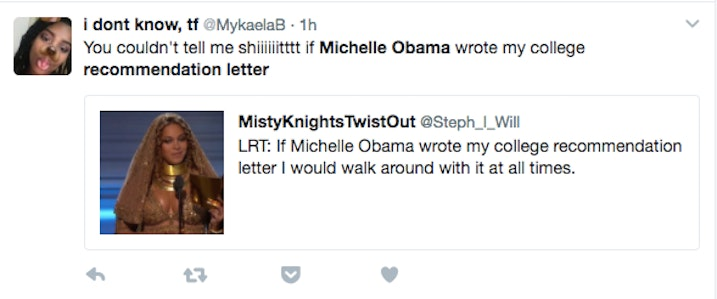 michelle obama wrote yara shahidis recommendation letter