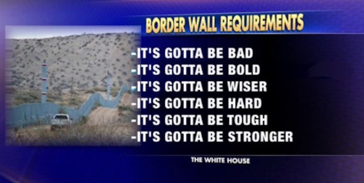 Requirements For Trump S Border Wall Turned Into Memes