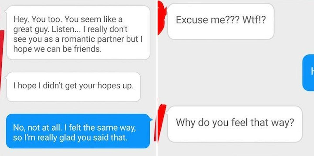 After Tinder Couple Rejected Each Other, They Texted Insults