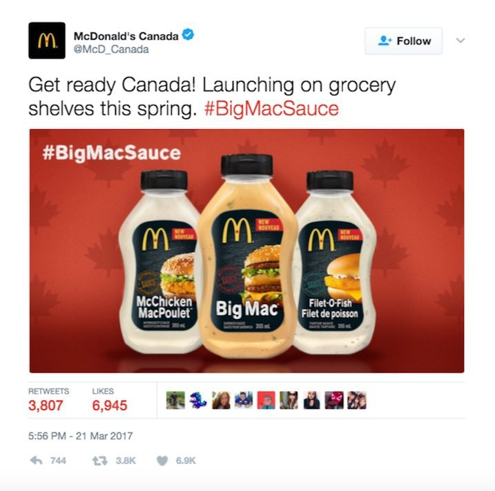 mcdonald s canada is releasing sauces in stores this spring