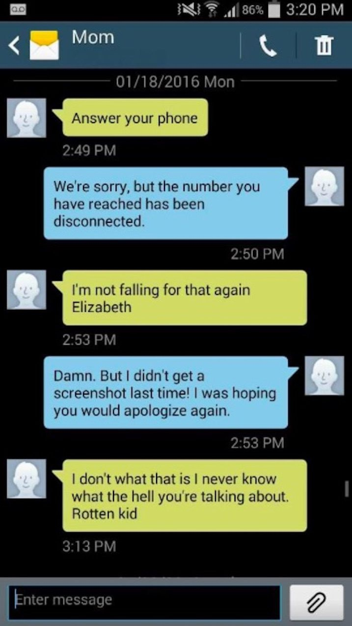 Daughter cant stop trolling her mom over texts ccuart Choice Image