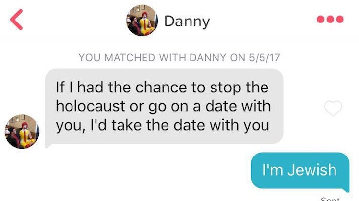 woman shuts down tinder match s holocaust pickup line