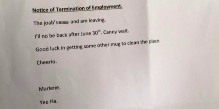 grandma leaves savage note when she quits job