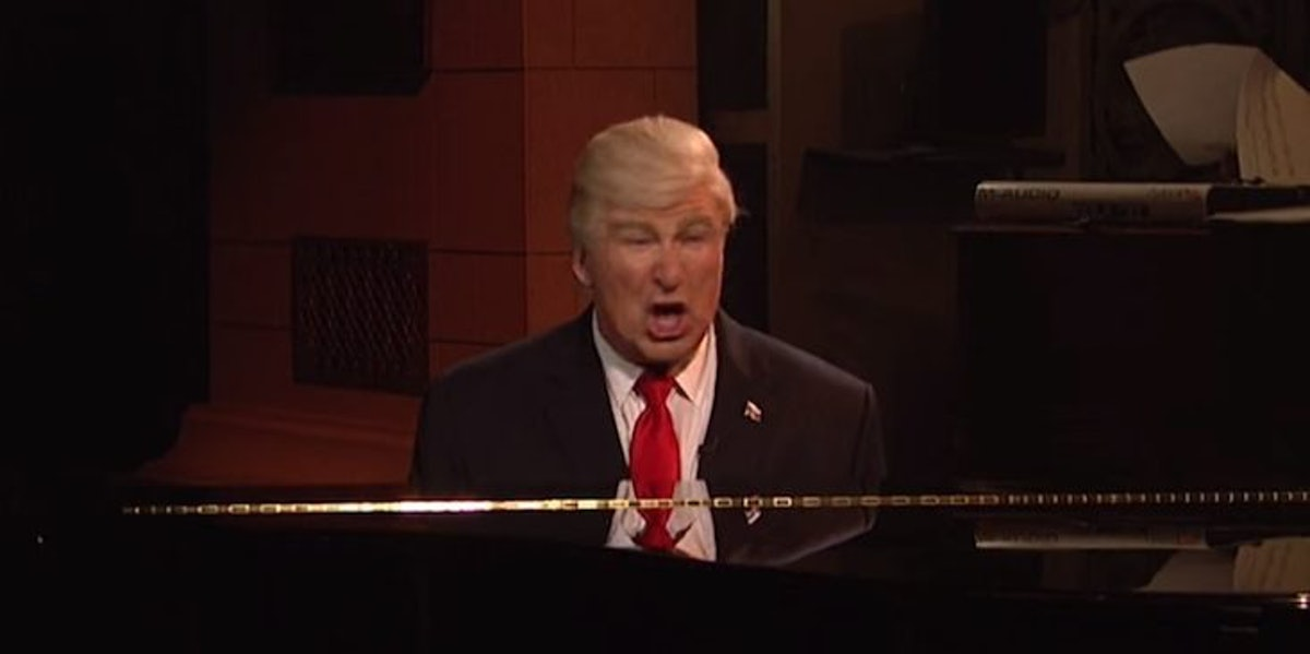 The 'SNL' Finale Is Th... Alec Baldwin Piano
