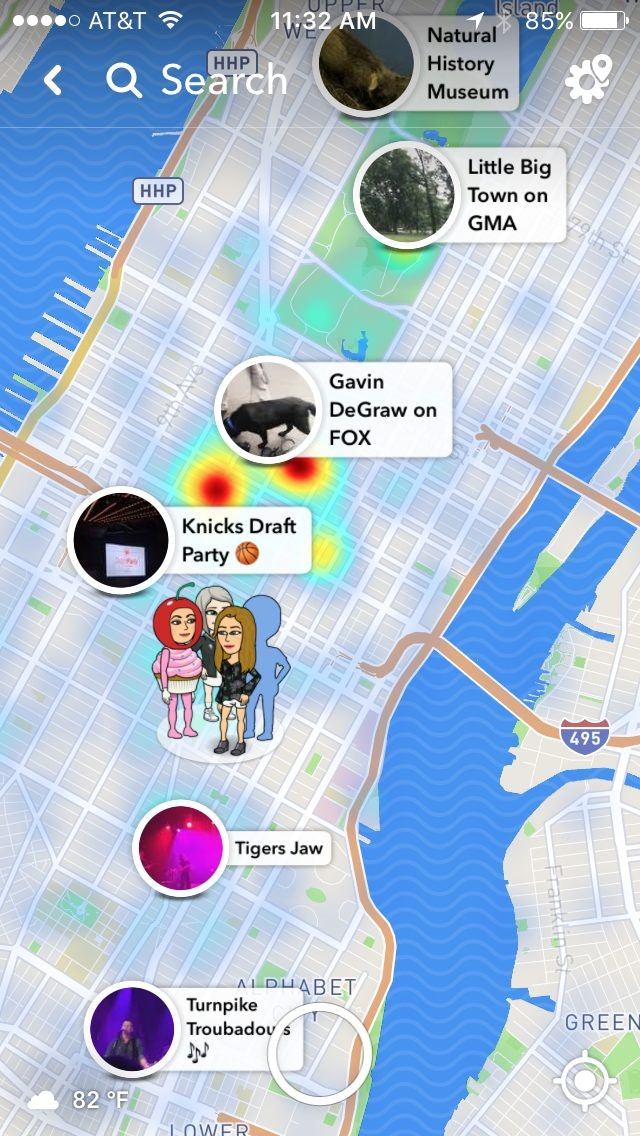 Bitmoji disappeared from snapchat map
