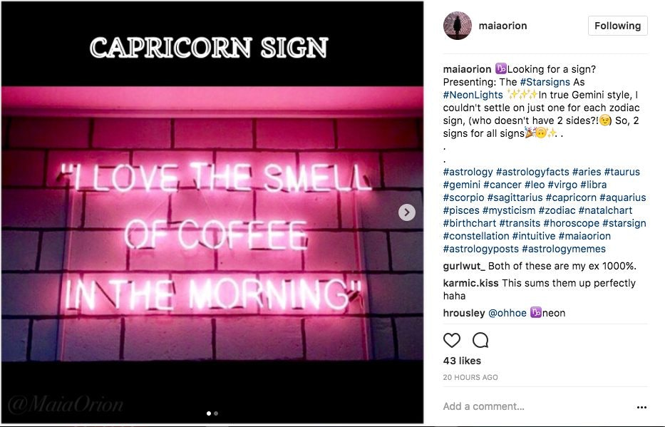 The Perfect Neon Sign For Your Zodiac Sign