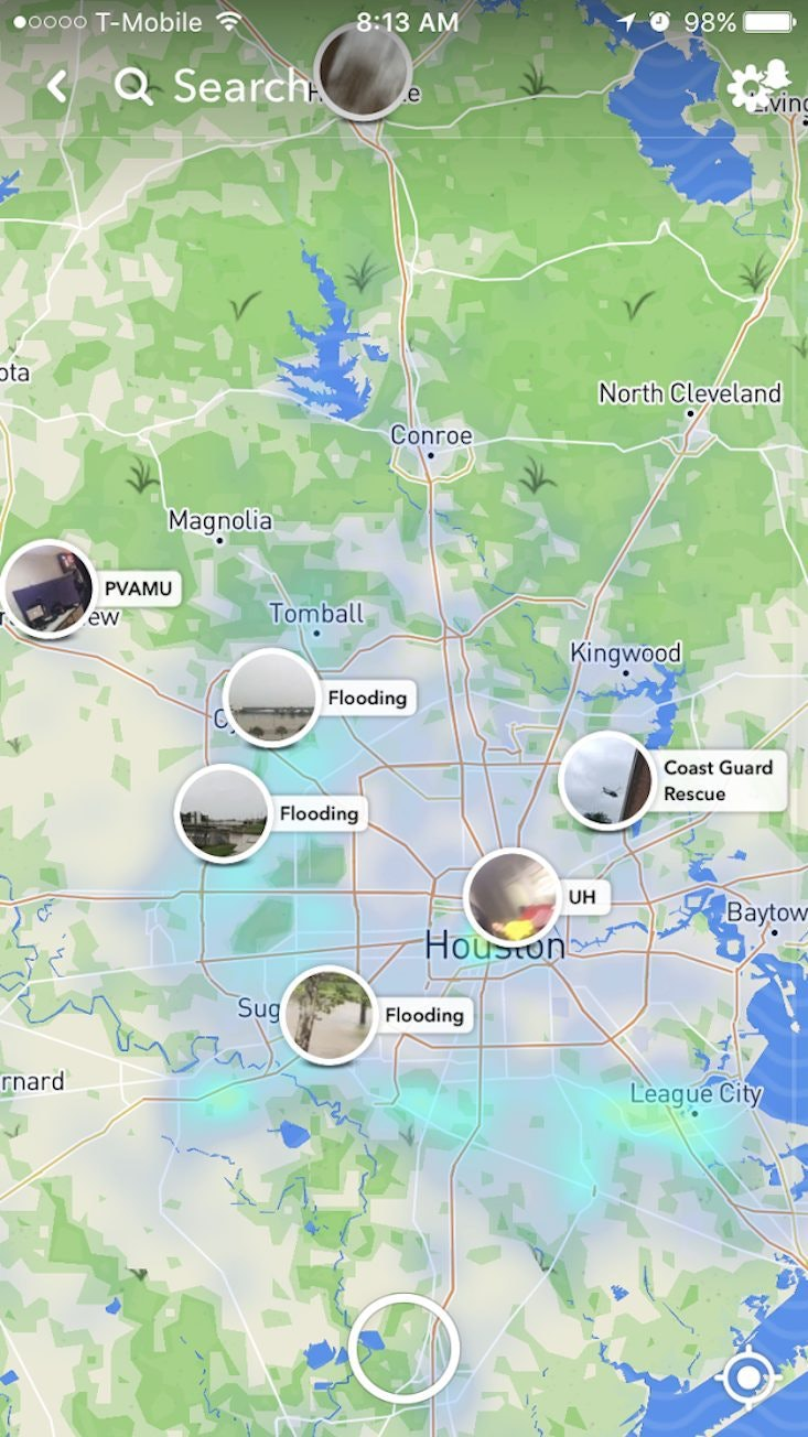 How To See Hurricane Harvey Damage On Snapchat Because Its Still