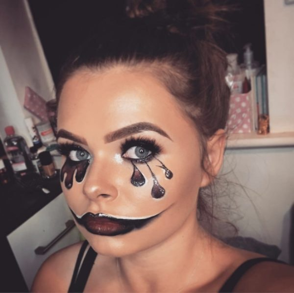 Clown Makeup Inspired By 'It' Is All Over Instagram & You'll Be Terrified