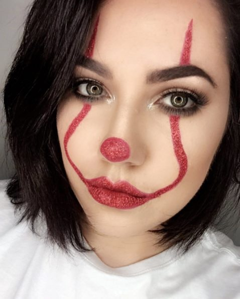 Clown Makeup Inspired By 'It' Is All Over Instagram & You ...