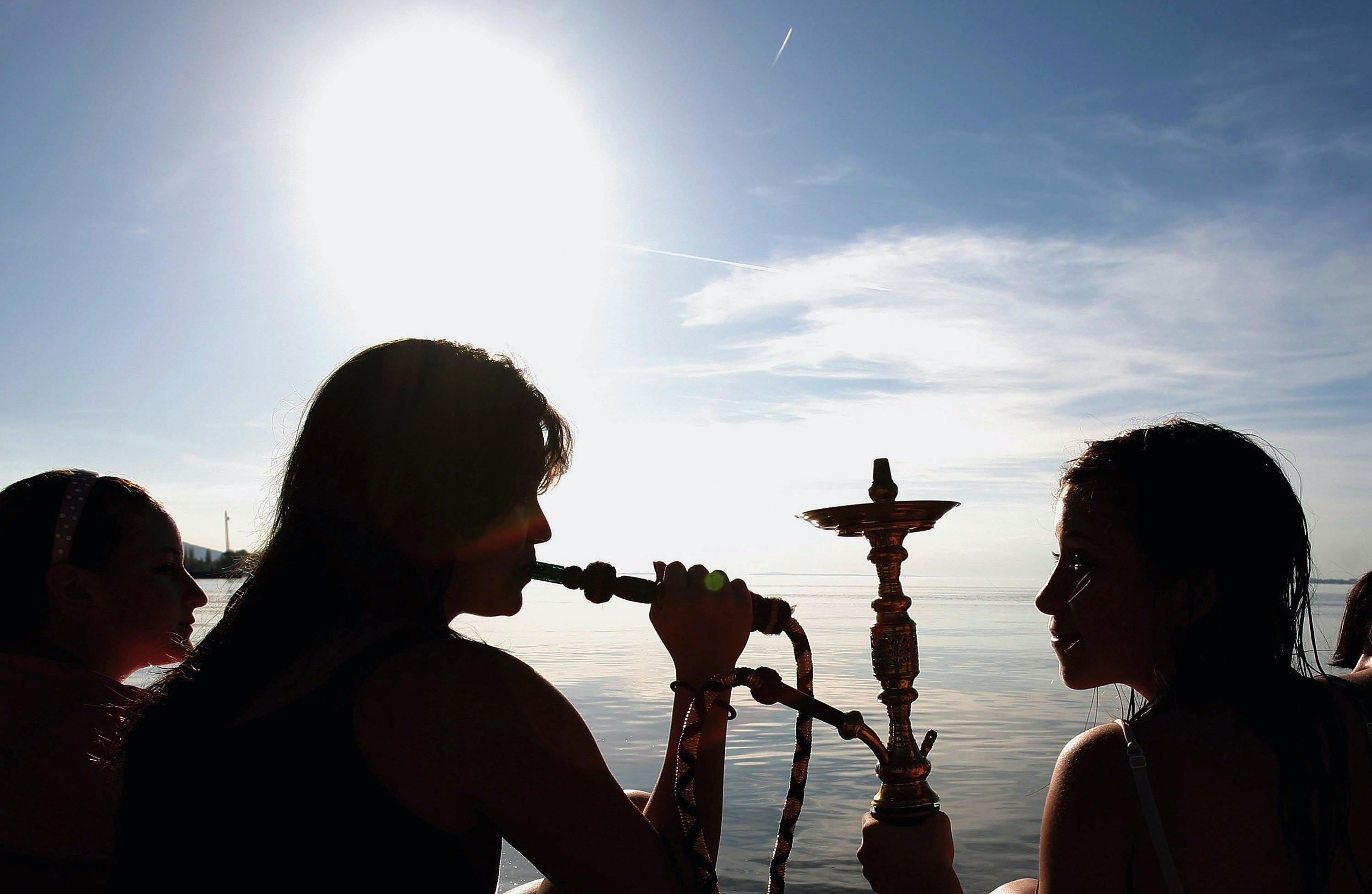 hookah is worse than cigarettes, so take it easy on the flavored smoke