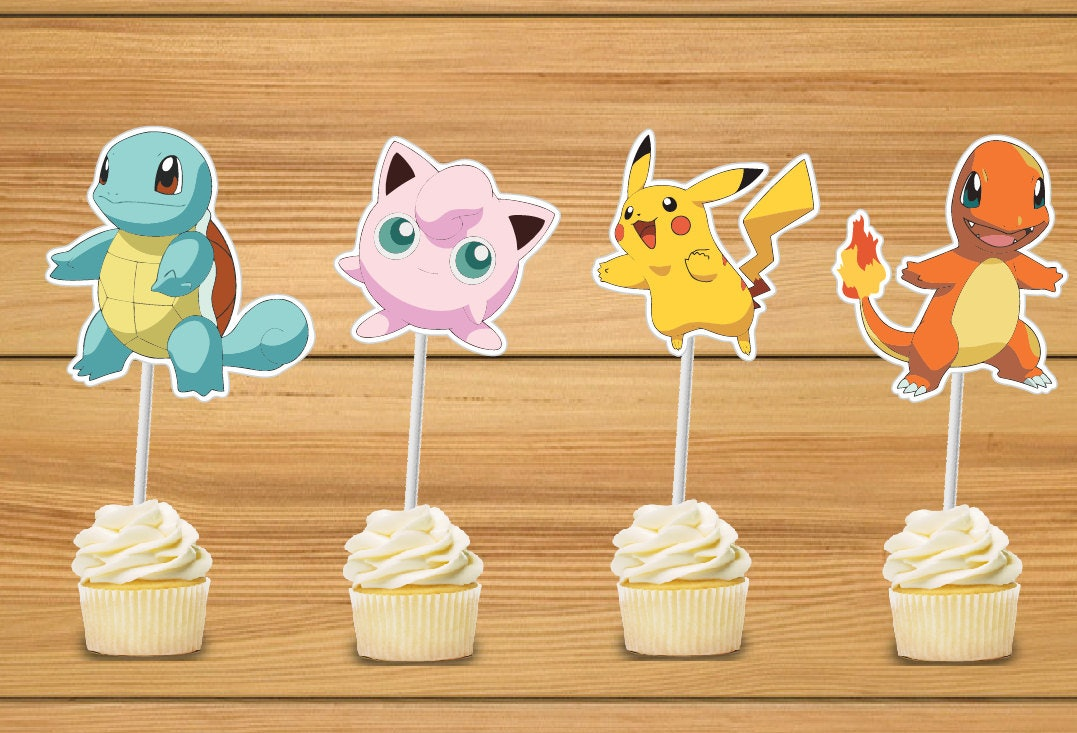 image about Pokemon Cupcake Toppers Printable referred to as 28 \