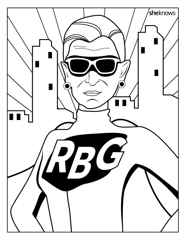This Ruth Bader Ginsburg Coloring Book Is Perfect For Women\'s ...