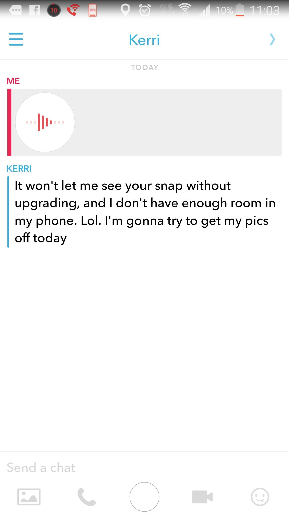 How to message on snapchat