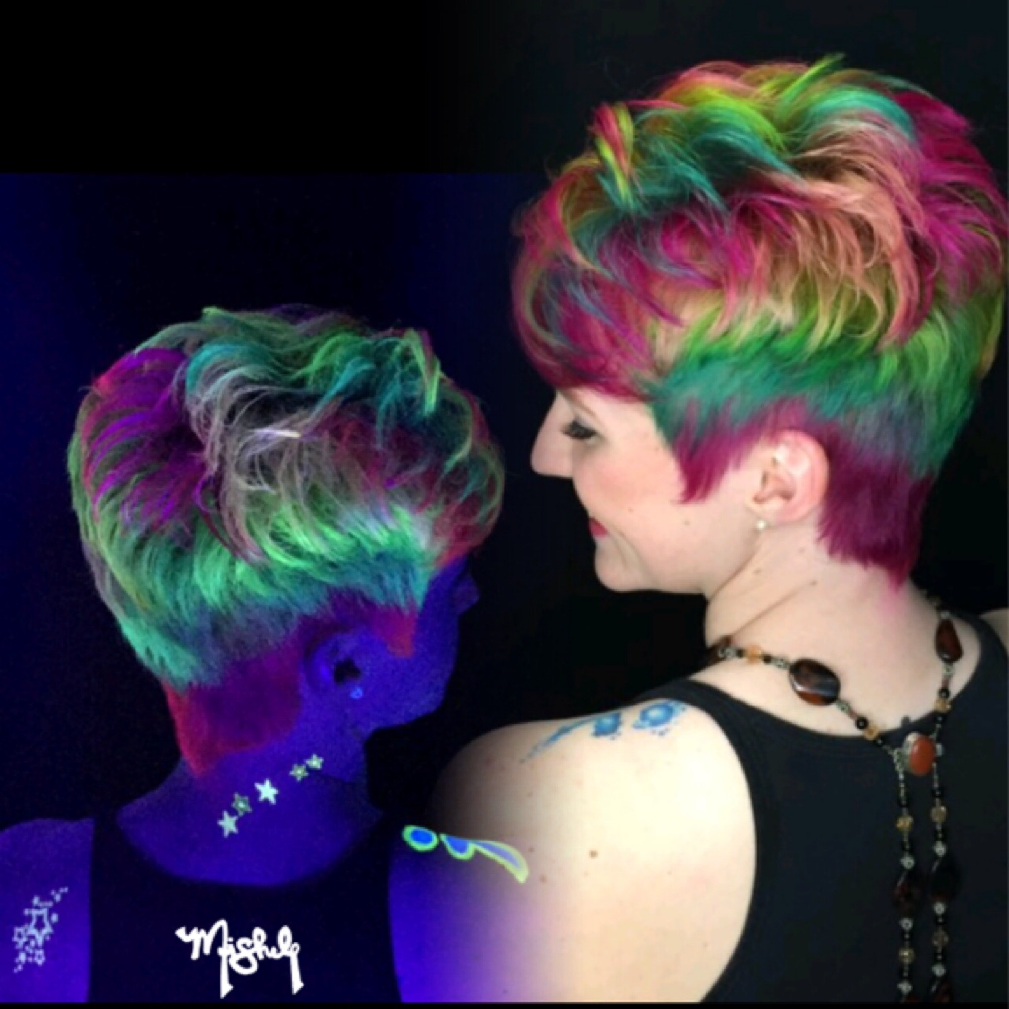 How To Get Glow In The Dark Hair So You Can Be On Trend In 2016 Photos