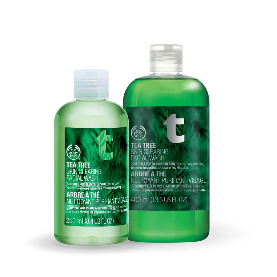 body shop tea tree oil face wash