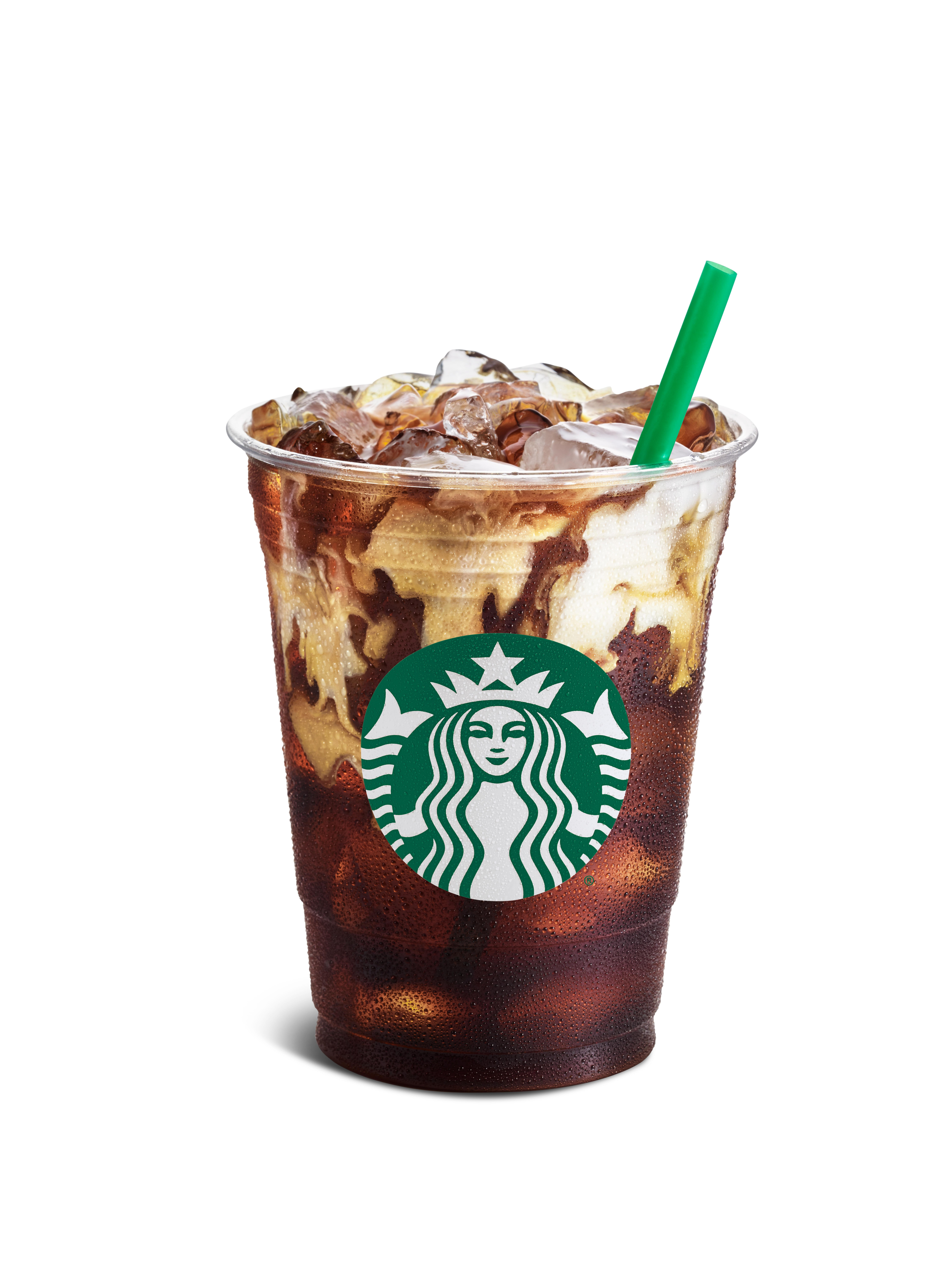 what's on the starbucks cold bar menu? it's the iced coffee