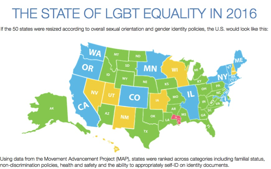 Sexual orientation and gender identity policies by state