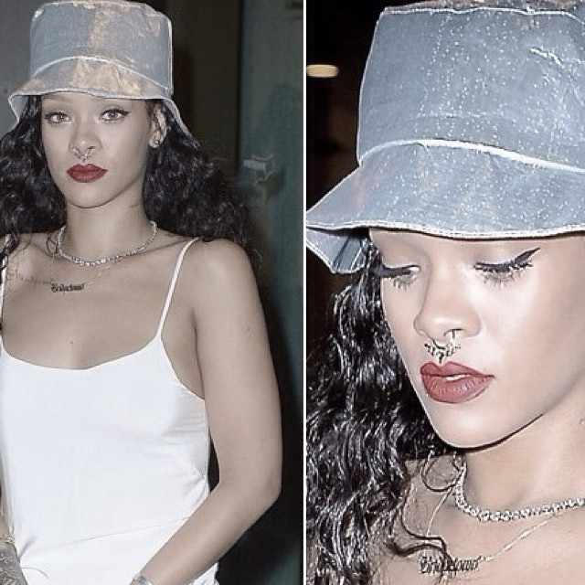 Rihanna Got A Fake Septum Piercing 5 Ways To Get The Look No
