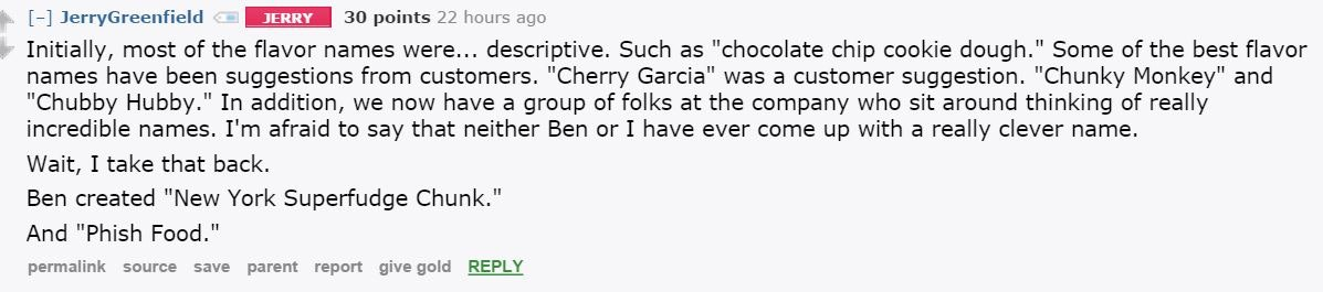 Ben and Jerry's Reddit AMA Answers All Your Most Pressing