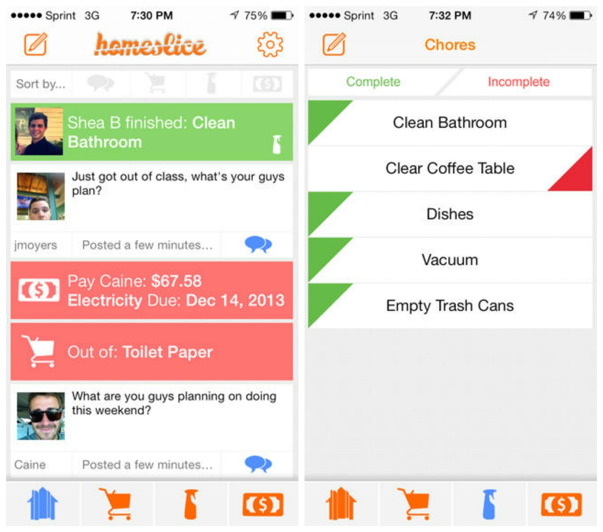 mobile app screenshot great diy chore wheels and charts for a clean