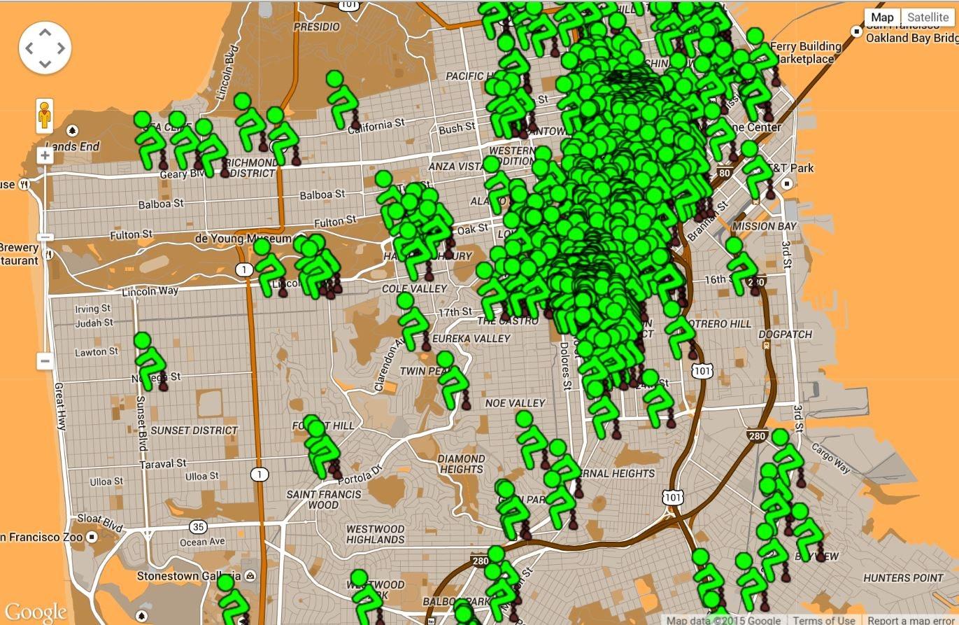 u0027San Franshitscou0027 Interactive Map Displays Instances Of