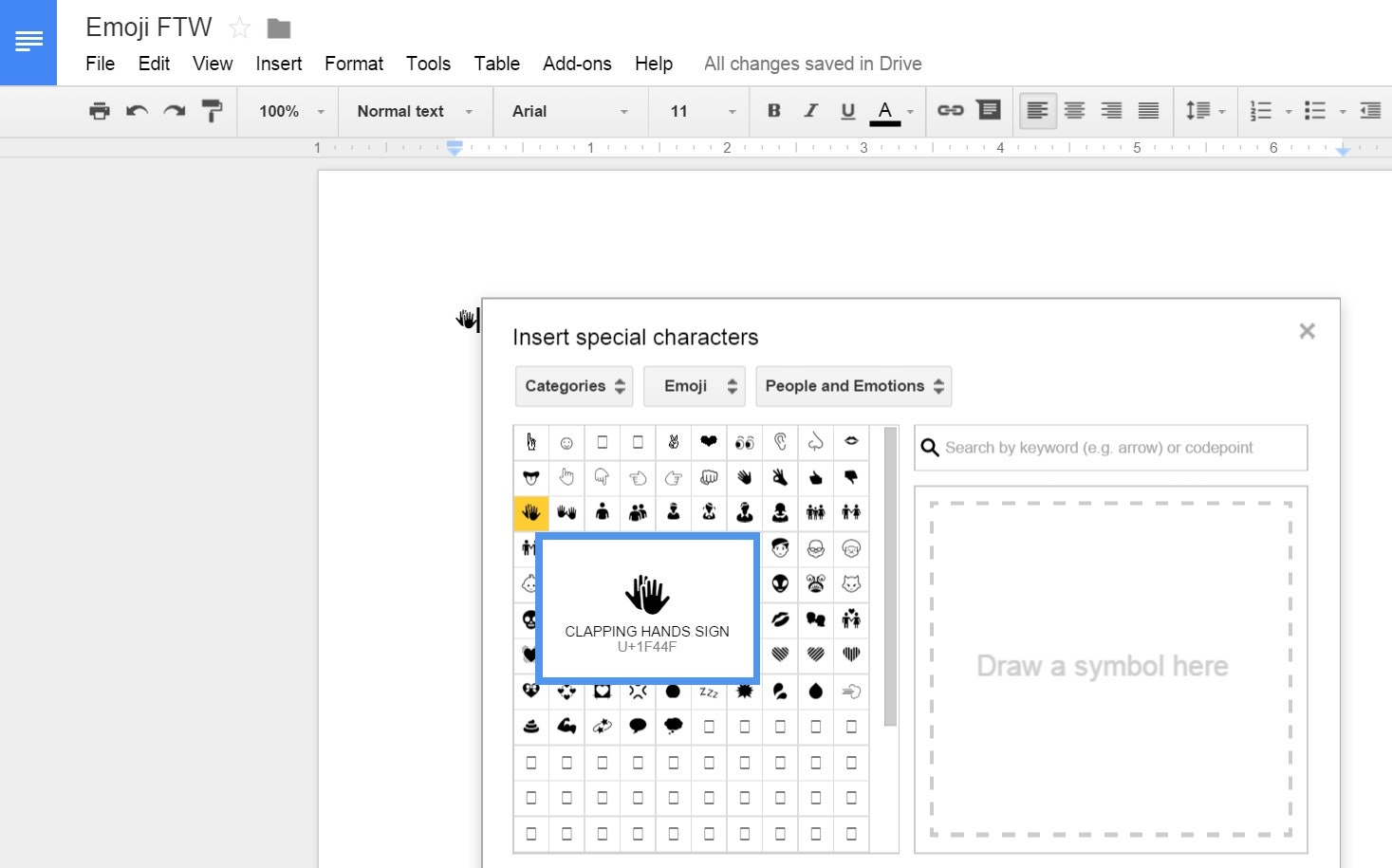 How To Use Emoji In Google Drive, Because Somewhat