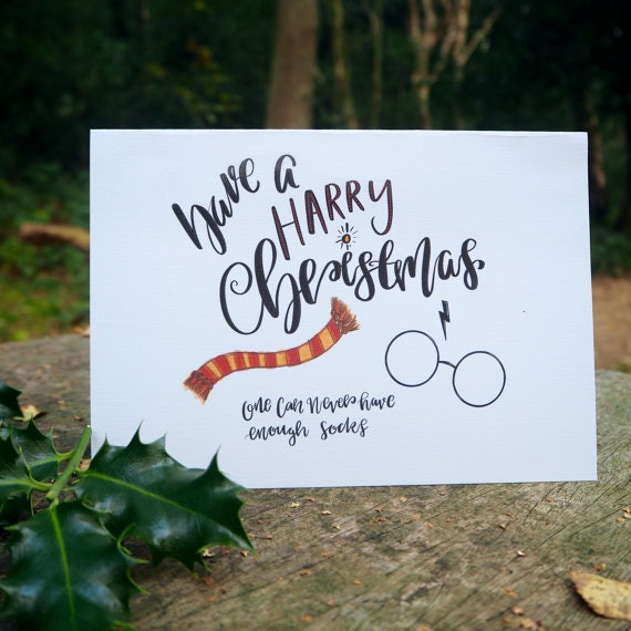 13 harry potter christmas cards youll need this holiday season