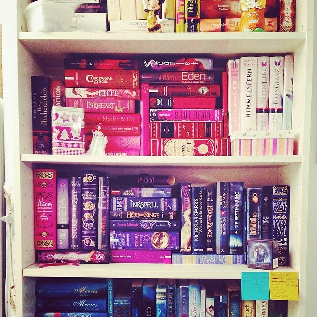 23 Rainbow Bookshelf Photos to Inspire Your Library